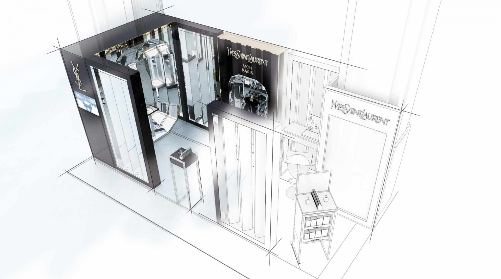 Edge Retail - Retail design - 3d Concepts