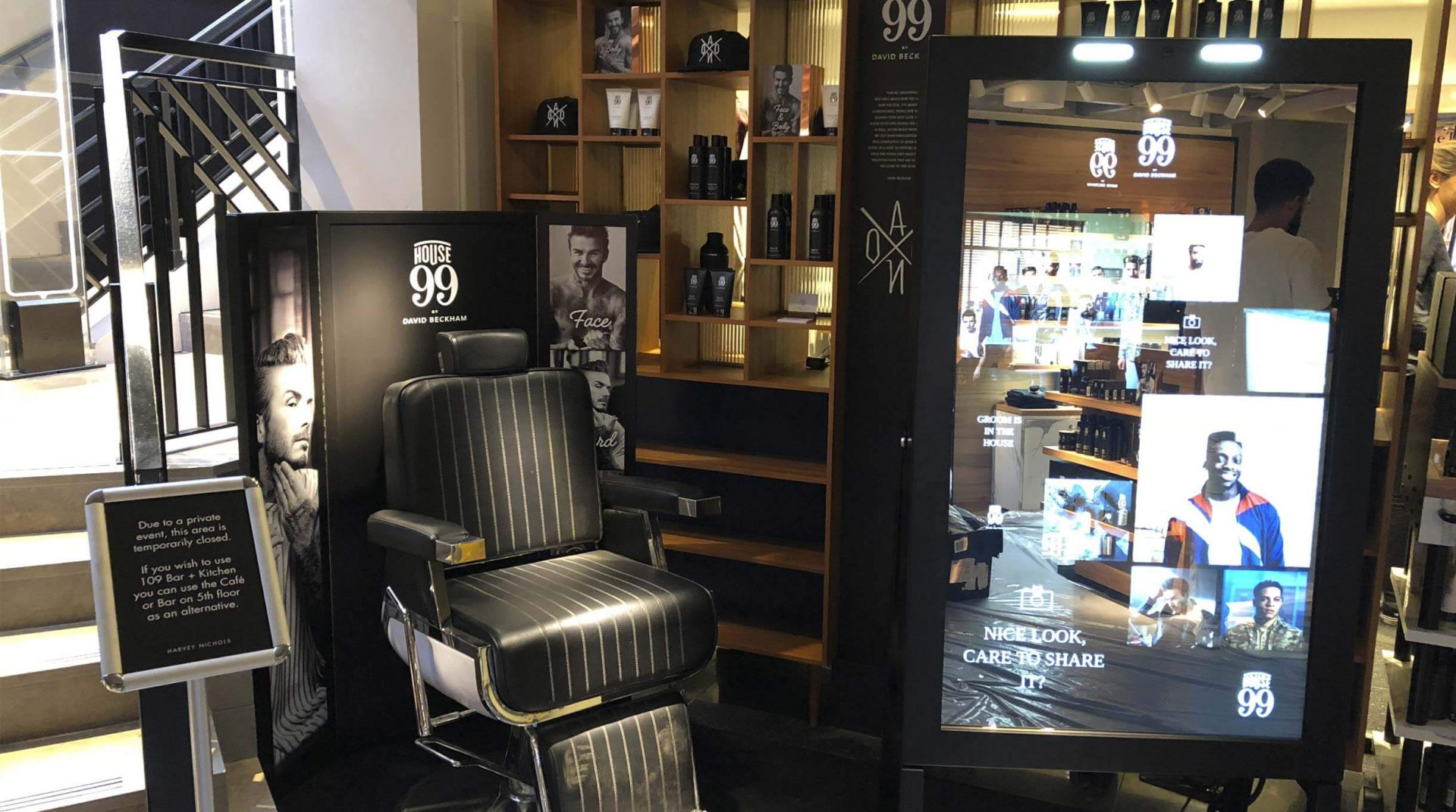 During The Launch Of Brand Edge Retail Installed A Live Window Display Where Gentlemen Can Receive Range Treatments To Ensure Theyre Looking